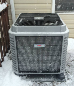We installed this HEIL 15 SEER Heatpump during a spring snow in New Britain PA. It qualified for a $400 rebate from PECO!
